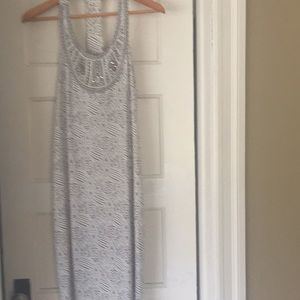 Great print beaded dress racer t back very sexy!
